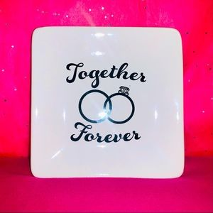 Together Forever Ceramic Trinket Tray Ring Dish